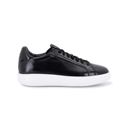 Santoni sneakers in pelle nera