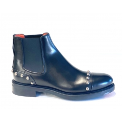Santoni Beatles in pelle nera