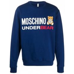 Moschino felpa blu Under Bear