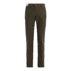 Incotex pantalone verde scuro