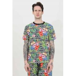 Moschinot.shirt logo e fiori