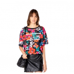 GAELLE T-SHIRT IN PIZZO FLORE